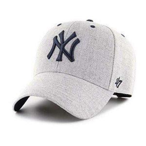 czapka NY z daszkiem szara
