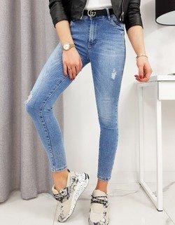stylizacja z wykorzystaniem damskich jeansów